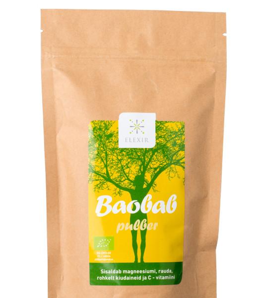 Baobab pulber sisaldab 6 korda rohkemC-vitamiini kui apelsin, hulgaliselt probiootilisi seedeensüüme,kaaliumi jaantioksüdante.Tugevdab immuunsüsteemi.